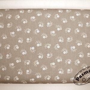 Kwiatuszek pętelka beżowa - tkanina bawełniana