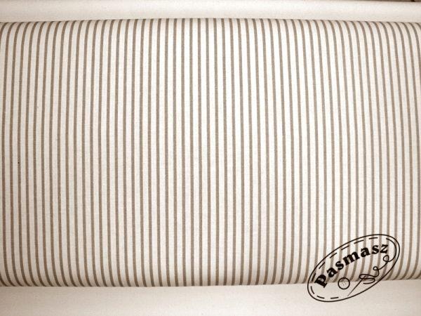 Paseczki biały-beż - tkanina bawełniana