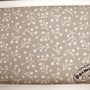 Gałązka na beżu - tkanina bawełniana