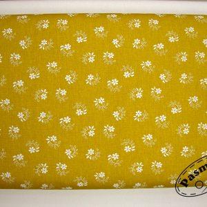 Kwiatuszek pętelka miodowa - tkanina bawełniana