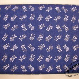 Łodyga róży na szafirowym - tkanina bawełniana