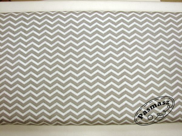 Zygzak szaro-biały - tkanina bawełniana