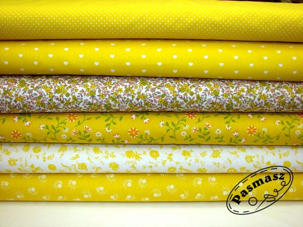 Tkanina bawełniana na żółtym