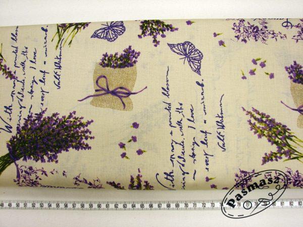 Woreczki lawendy na beżu - tkanina bawełniana