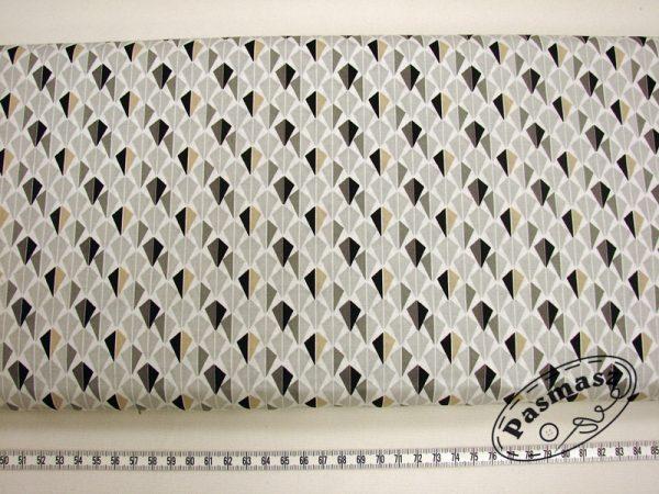 Latawce szaro-grafitowe - tkanina bawełniana