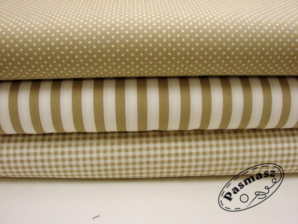 Beżowa - tkanina bawełniana