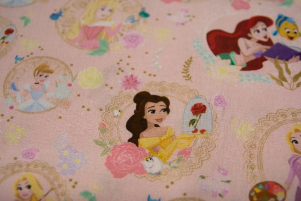 Disney Księżniczki na różu – tkanina bawełniana