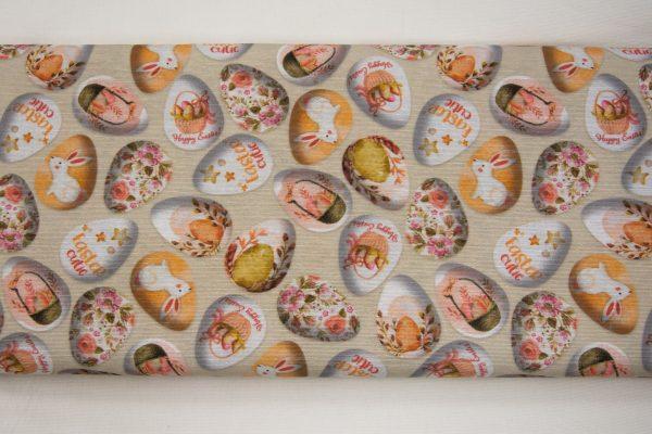 Jajka świąteczne – tkanina bawełniano-poliestrowa