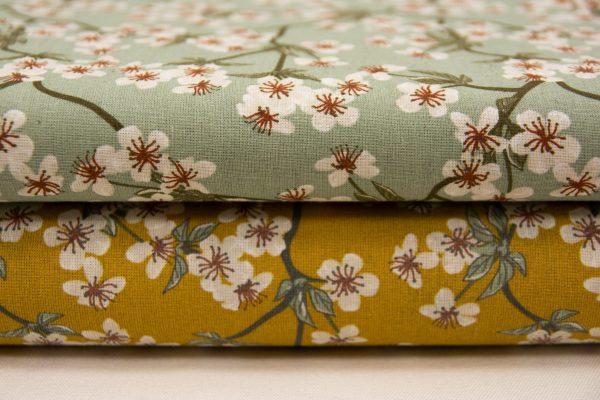 Kwiat wiśni – tkanina bawełniana