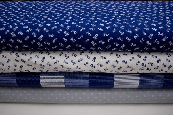Szafirowe tkaniny bawełniane