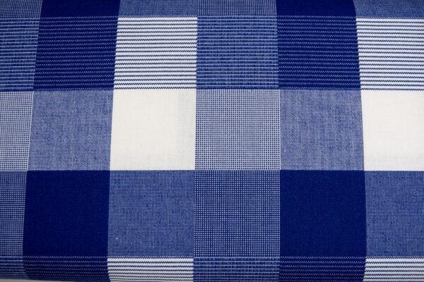 Kratka na szafirowym – tkanina bawełniana