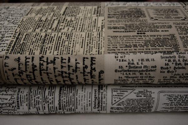 Stara gazeta – tkanina bawełniana
