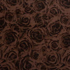 Róże na brązie – tkanina bawełniana