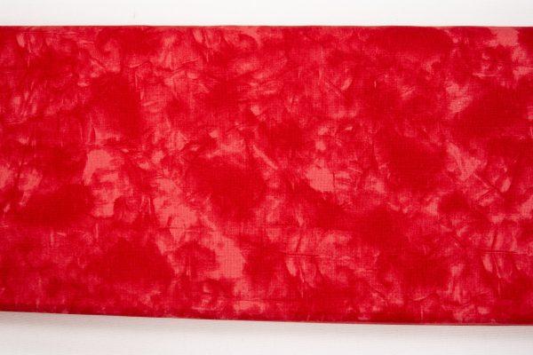 Czerwony marmurek – tkanina bawełniana