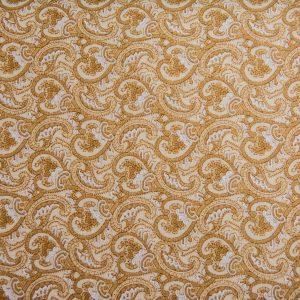 Paisley w złocie – tkanina bawełniana