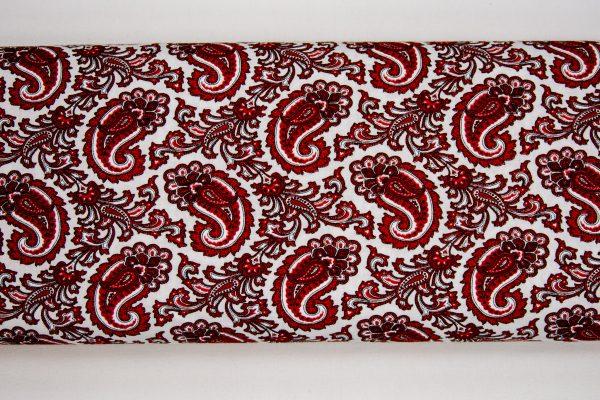 Paisley krwista czerwień – tkanina bawełniana