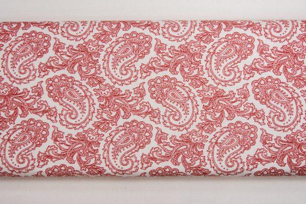 Paisley w czerwieni – tkanina bawełniana