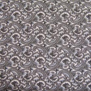 Paisley w czerni – tkanina bawełniana