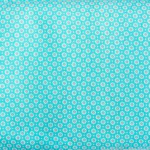 Łączka na turkusie - tkanina bawełniana