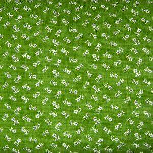Kwiatuszek gwiazdka na awokado - tkanina bawełniana