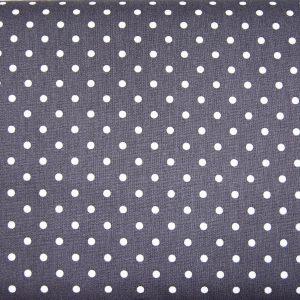 Kropki na graficie - tkanina bawełniana