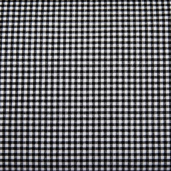 Czarno-biała krateczka - tkanina bawełniana