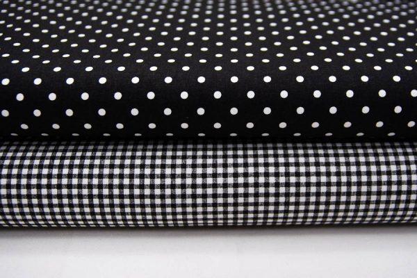 Tkaniny czarno-białe