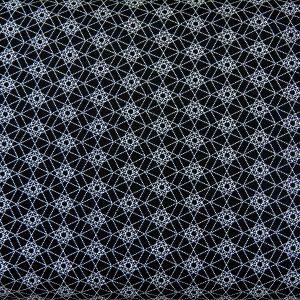 Mozaika czarno-biała - tkanina bawełniana