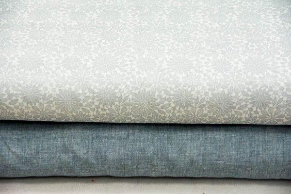Tkanina szaroniebieska - tkanina bawełniana