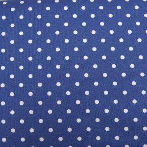 Kropki na jeansowym - tkanina bawełniana