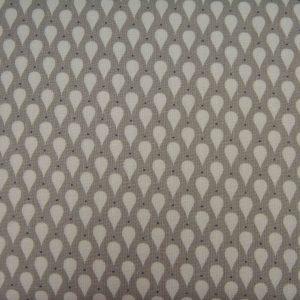 Łezki na szarym - tkanina bawełniana
