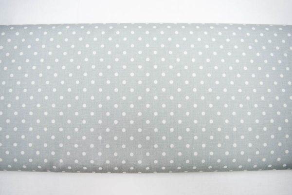 Kropki na jasnoszarym - tkanina bawełniana