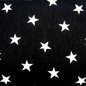 Gwiazdy na czerni - tkanina bawełniana