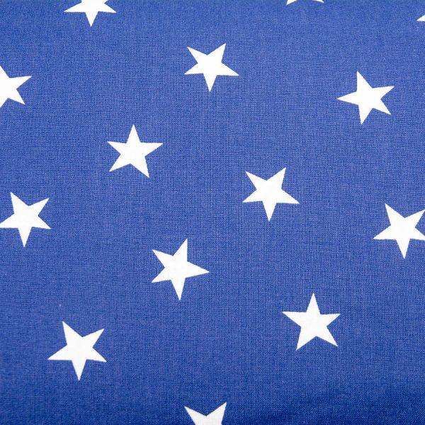 Gwiazdy na niebieskim - tkanina bawełniana