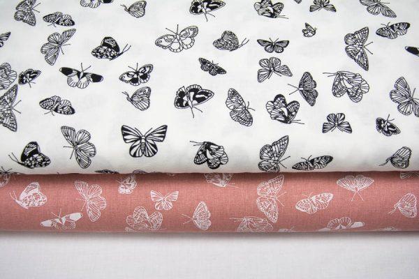 Motylki - tkanina bawełniana