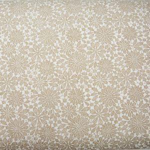Koronka jasnobeżowa - tkanina bawełniana