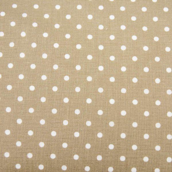 Kropki na beżu- tkanina bawełniana