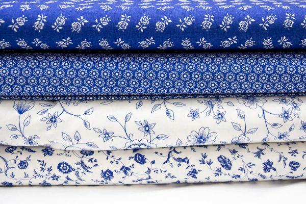 Niebieskie tkaniny