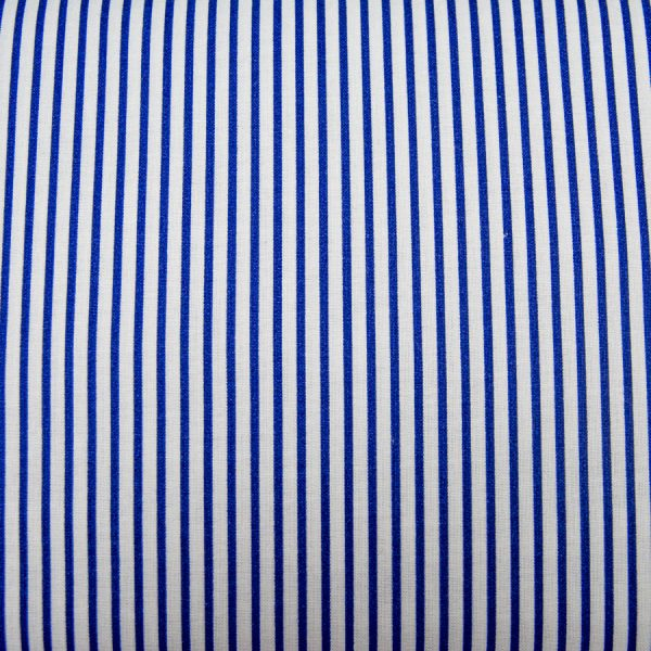 Paseczki szafirowe - tkanina bawełniana