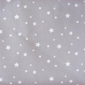 Gwiazdki na popielu - tkanina bawełniana