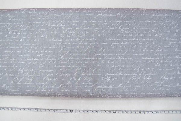 Napisy na popielu - tkanina bawełniana