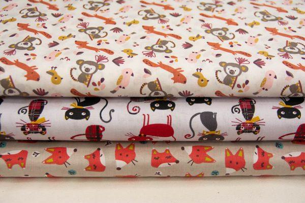 Dziecięce tkaniny bawełniane