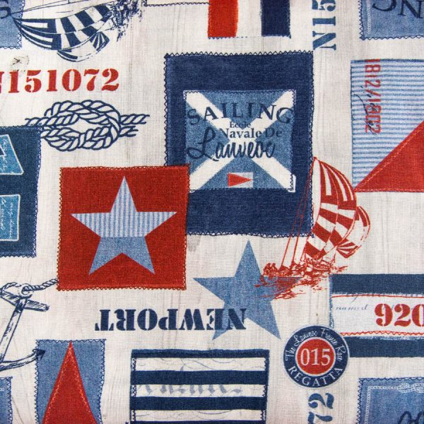 Marynarska - tkanina bawełniana