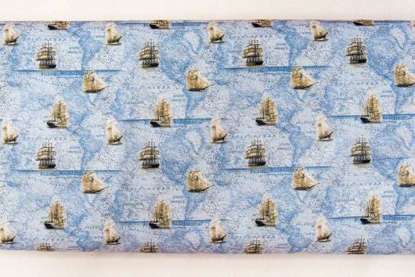 Morskie opowieści - tkanina bawełniana
