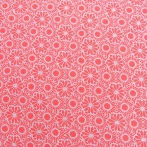 Mozaika na neonowym różu - tkanina bawełniana