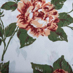 Duże bordowe róże - tkanina bawełniana