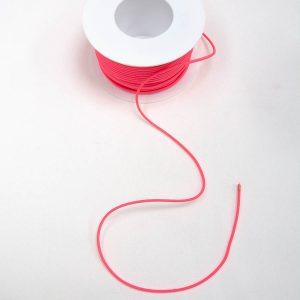 Guma okrągła odblaskowo różowa - średnica 3mm