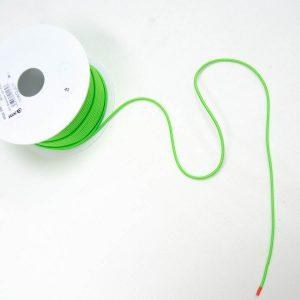 Guma okrągła odblaskowo zielona - średnica 3mm