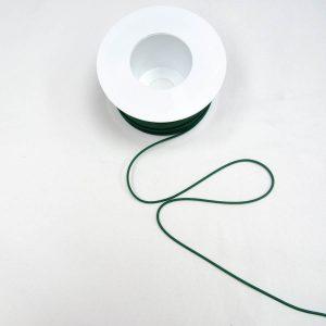Guma okrągła butelkowa zieleń - średnica 3mm