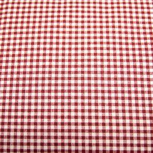 Krateczka biało-bordowa - tkanina bawełniana